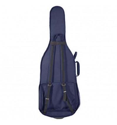 """Housse violoncelle semi-rigide """"Riboni - Luxe"""" - Bleu"""